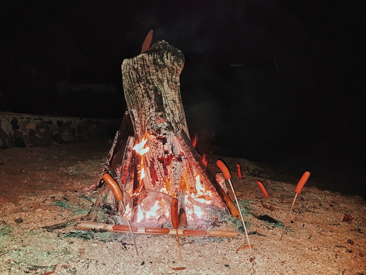 Bonfire by the beach ph